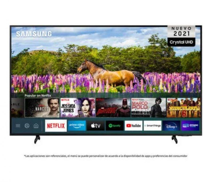 LED Samsung 60″ AU8000 Crystal UHD 4K Smart TV 2021 a $449.990 en Paris